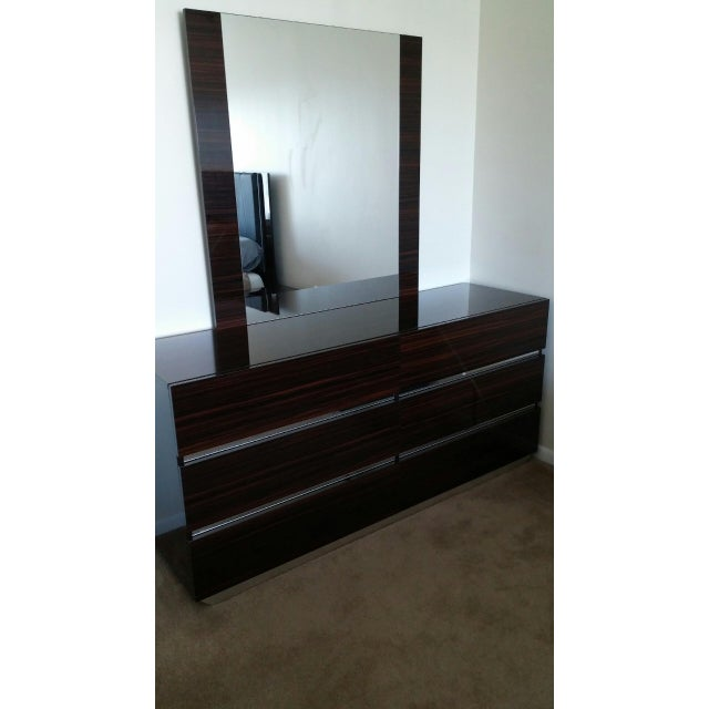 Luxor Italian Modern Ebony Dresser - Image 3 of 4