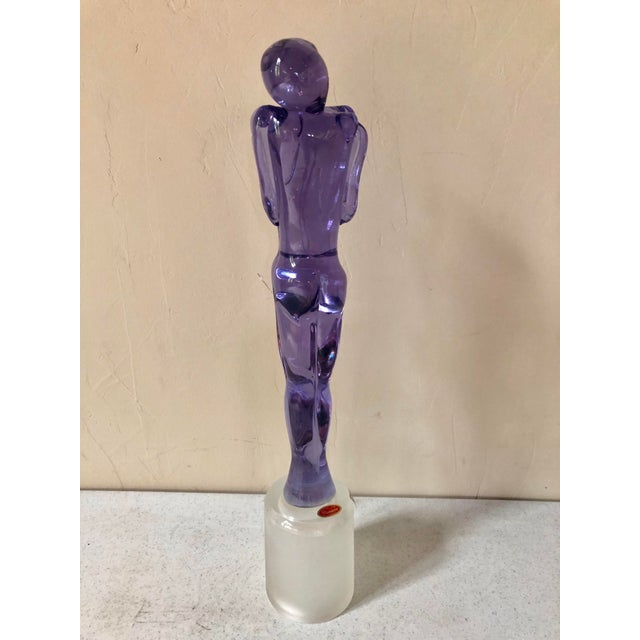 Glass 1980s Murano Glass Embracing Couple Figurative Sculpture For Sale - Image 7 of 8