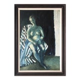 Image of Vintage Post Impressionist Female Nude Oil Painting For Sale
