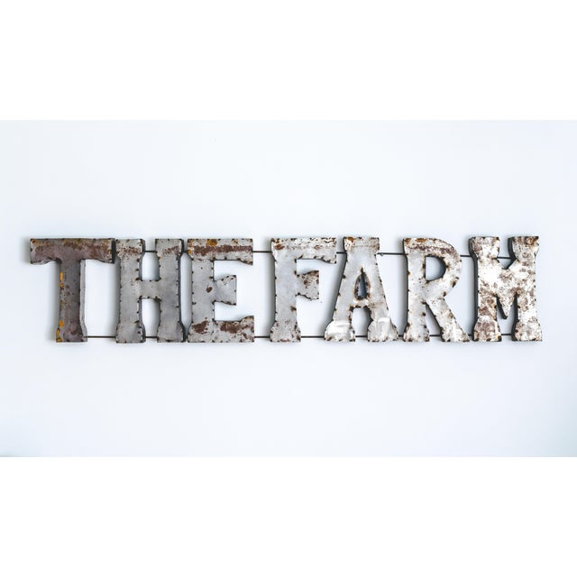 The Farm Rustic Metal Marquee Sign - Image 2 of 3