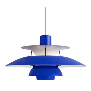 Poul Henningsen Ph 5 Pendant for Louis Poulsen in All Blue For Sale