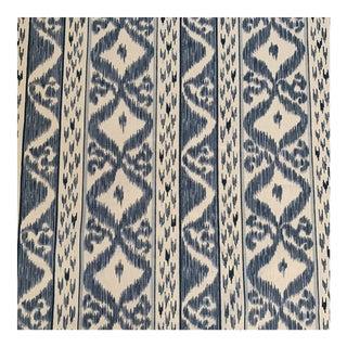 Cowtan Tout Rapallo Blue Screen Print Linen Fabric 2 3/4 Yards For Sale