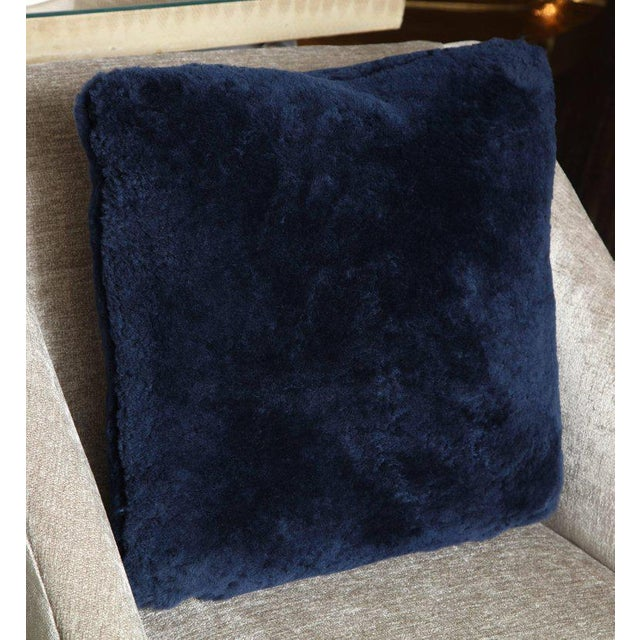 Modern Genuine Shearling Pillows For Sale - Image 3 of 4