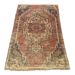 Rustic Vintage Turkish Area Rug For Sale
