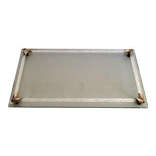 Vintage Hollywood Regency Transparent Glass Tray