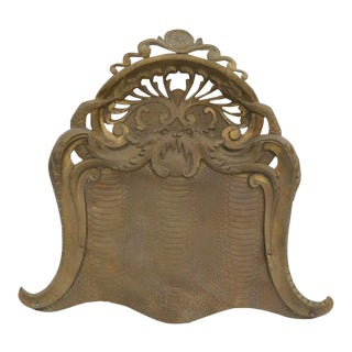 Antique Townsend & Co. Handmade Brass Dustpan Tray For Sale