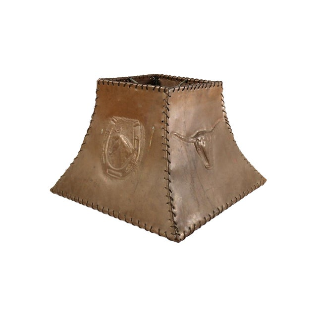 1920s Ranch Cowboy Lamp Shade, Copper - Image 1 of 8