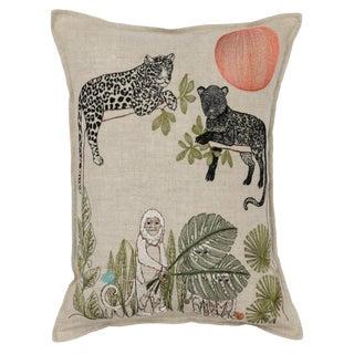 Jungle Sunrise Pillow For Sale