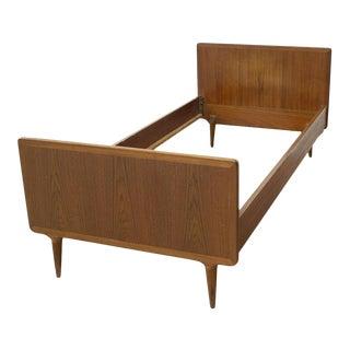 Mid Century Modern Danish Teak Twin Bedframe For Sale