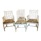 Image of Faux Bamboo Dining Chair - Set of 4 For Sale