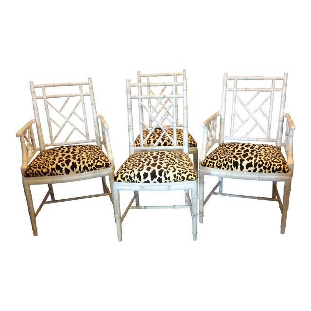 Faux Bamboo Dining Chair - Set of 4 For Sale