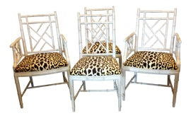 Image of Faux Bamboo Dining Chairs