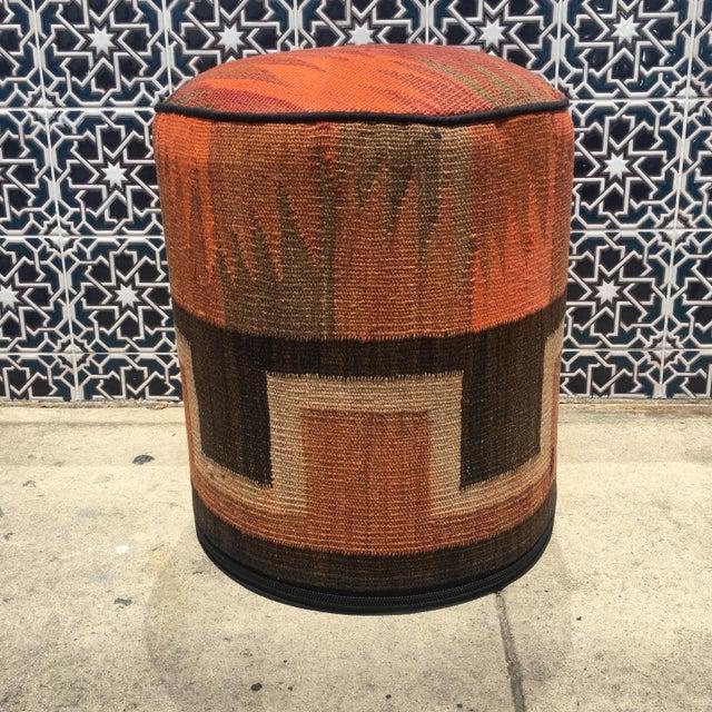 Vintage Kilim Fabric Stool - Image 4 of 5
