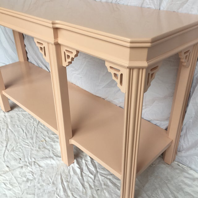 Lane Furniture Pink Lacquered Console by Lane For Sale - Image 4 of 8