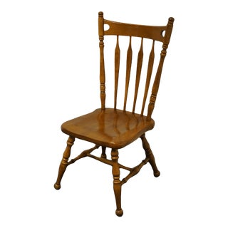Ethan Allen Heirloom Nutmeg Maple Colonial Style Arrowback Side Chair For Sale