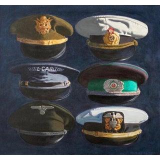 1980s Robert Biancalana Peaked Hats Original Painting For Sale