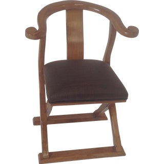 Asian Modern Lounge Chair For Sale