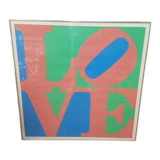 1970 Vintage Robert Indiana Love 5 Print Artist Proof For Sale