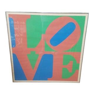 1970 Vintage Robert Indiana Love 5 Print Artist Proof