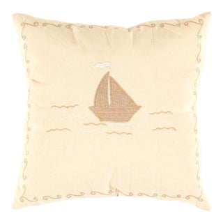 Indian White Color Booth Cotton Pillow For Sale