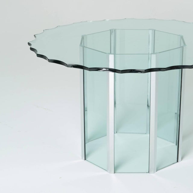 1970s Custom Glass and Chrome Table by Pace - Image 6 of 7