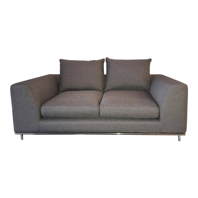 Amazing Carlos Perazzi Hanna Gray Loveseat Pabps2019 Chair Design Images Pabps2019Com