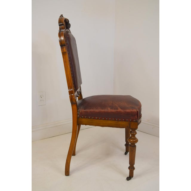 Victorian Mid 19th-Century Walnut Dining Chairs-Set of Six (6) For Sale - Image 3 of 12