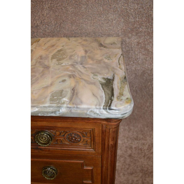 French Style Seven Drawer Marble Top Lingerie Chest For Sale - Image 12 of 13