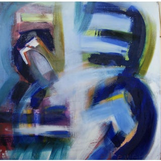 """""""Cataract I"""" Contemporary Abstract Oil Painting For Sale"""