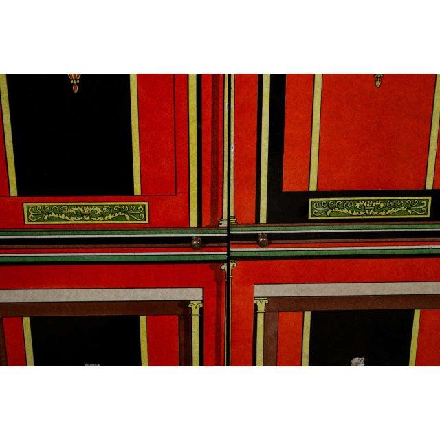 Piero Fornasetti Piero Fornasetti Exceptional Lacquered Encoignure/Corner Cabinet For Sale - Image 4 of 8