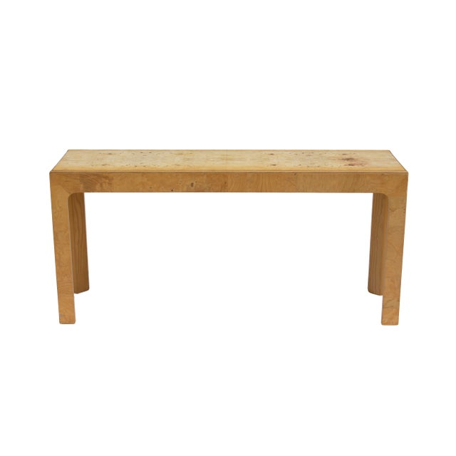 Henredon Olive Burl Console Table by Henredon Scene Two For Sale - Image 4 of 11