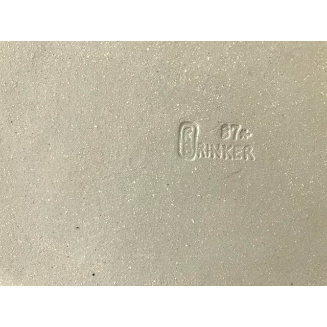 Vintage R. Brinker Handmade Stoneware Serving Platter - Image 4 of 5
