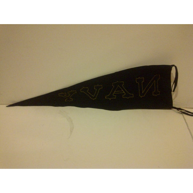 Vintage United States Naval Academy Pennant Circa 1940 For Sale In Pittsburgh - Image 6 of 7