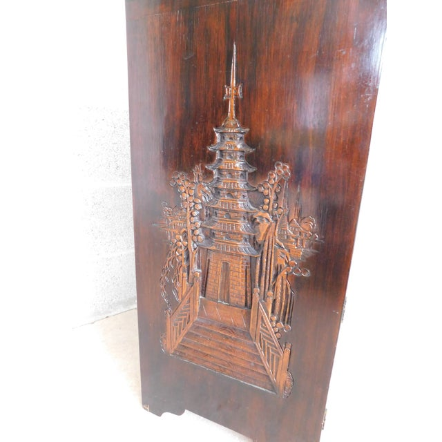 Vintage George Zee Asian Carved Silver Chest For Sale - Image 11 of 13