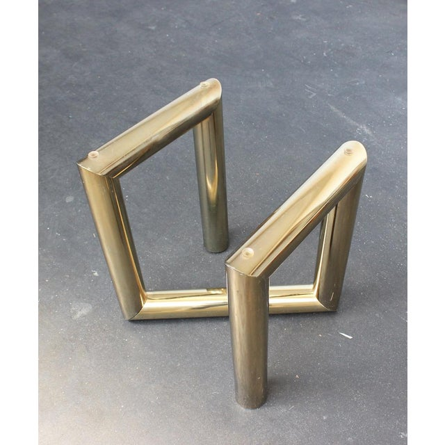 Pace Brass and Glass Side Table - Image 4 of 7
