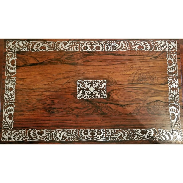 Brass 19c British Rosewood Campaign Writing Slope For Sale - Image 7 of 11