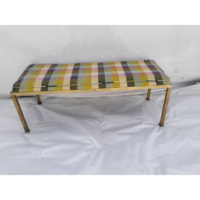 1960s 1960s Vintage Solid Brass Bench For Sale - Image 5 of 9