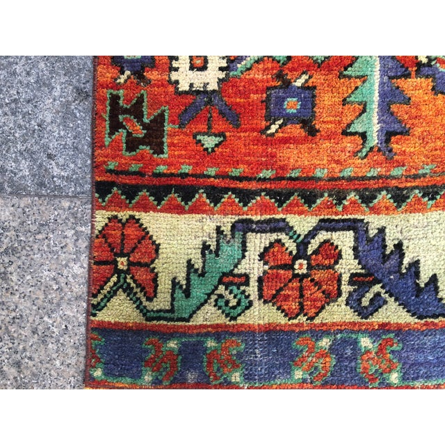 Turkish Handmade Hallway Runner Rug For Sale - Image 9 of 10