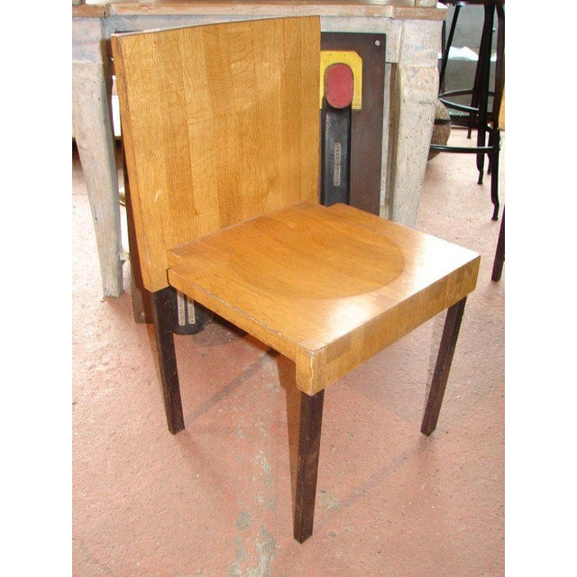 Wood and Steel Dining Chairs and Tables For Sale - Image 4 of 9