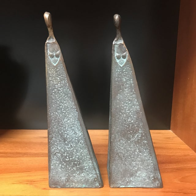 Bronze Modernist Female Figures - A Pair - Image 2 of 6