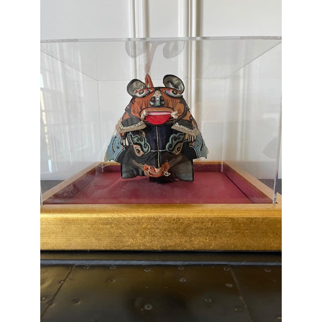 Framed Antique Chinese Child Tiger-Head Hat For Sale In Atlanta - Image 6 of 12