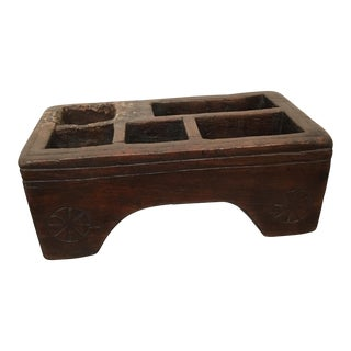 19th Century Hand Carved Folk Art Tool Tray For Sale
