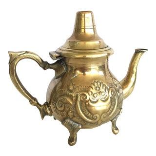 Vintage Moroccan Brass Teapot