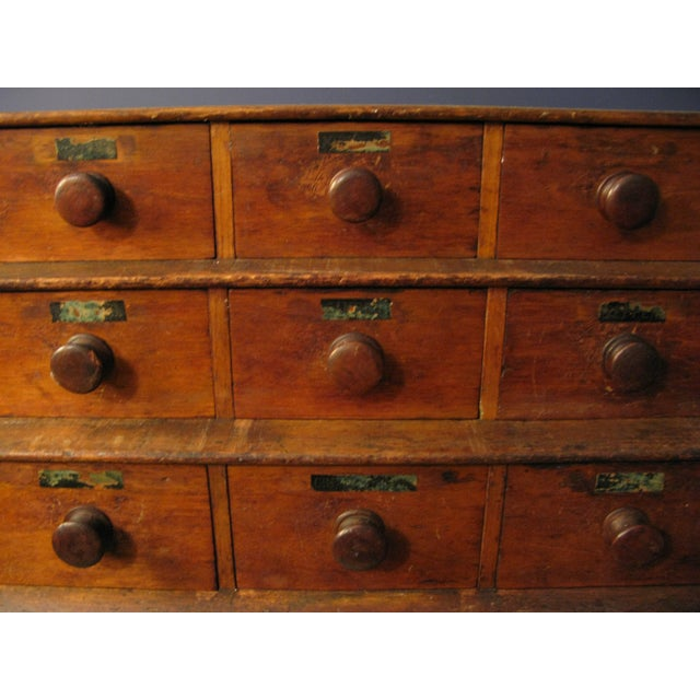 Early Original Graduated Apothecary Drawers - Image 3 of 11