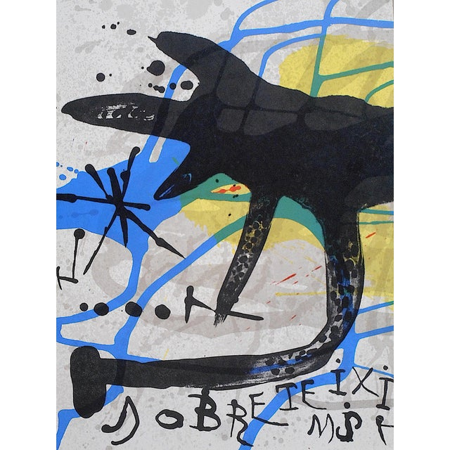 Abstract Vintage Mid Century Ltd. Ed. Lithograph-Joan Miro-Derriere Le Miroir-1973 For Sale - Image 3 of 5