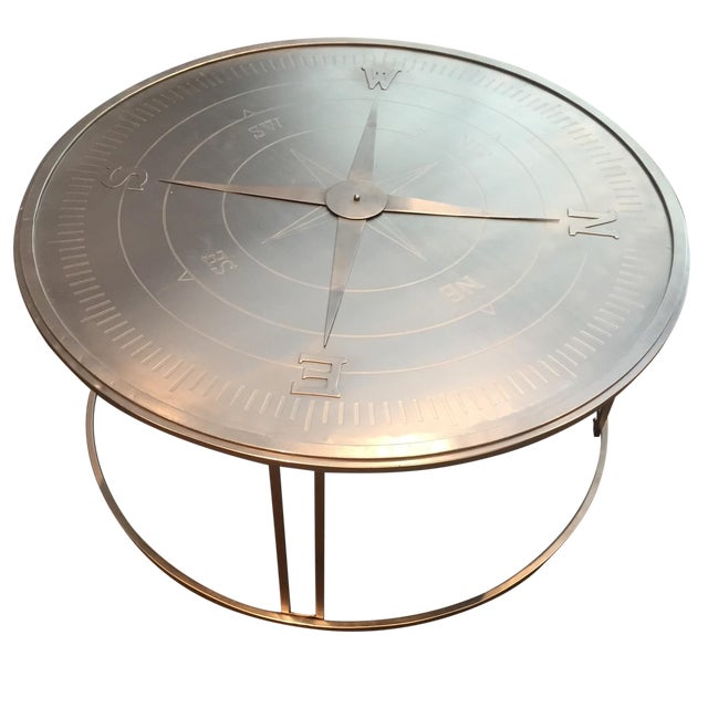 """Compass"" Round Coffee Table For Sale"