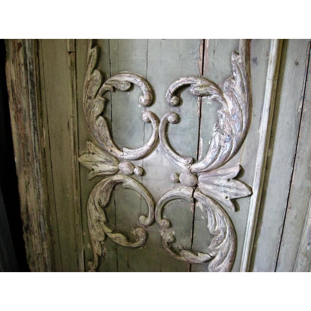 18th Century Louis XVI Painted Panel Door For Sale In New Orleans - Image 6 of 12