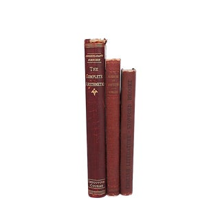 Late 19th Century Antique School Books - Set of 3 For Sale