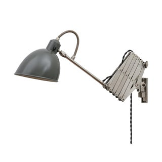 Industrial Chic Accordion Lamp by Alfred Muller For Sale