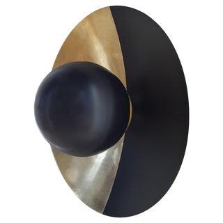 Metropolis Noir, Brass Sconce by Jan Garncarek For Sale